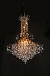 Crystal Chandeliers with golden touch