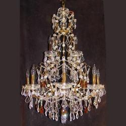 Long Candle Style Crystal Chandeliers