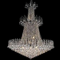 Crystal Chandeliers with Silver Finish
