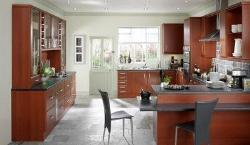 Modern kitchen design with wooden finish