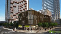 3D Architectural Commercial Exterior Rendering