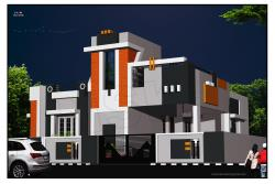 house home -Exterior-front elevation-architeucture design-tieunelveli tamilnadu