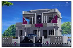 3d elevation-house home -Exterior-front elevation-architeucture design