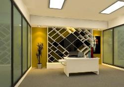 Office wall design for reception area
