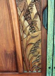 fine wooden art for door