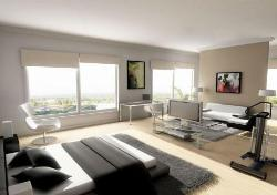 A spacious extra long luxary bedroom