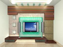 3D elevation for TV Cabinet Good for small space