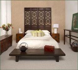 Low height bed with earthen design
