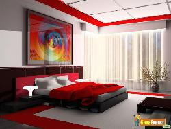 Red Hot look Bedroom