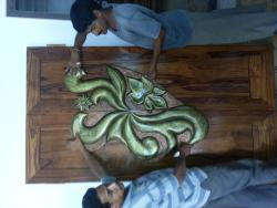 Exclusive wooden door with hand made carving design