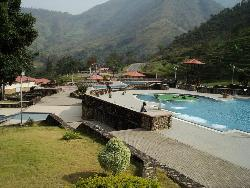 OBUDU CATTLE RANCH POOL AND HILLY BACKGROUND