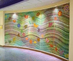 a creative wall pattern for kids room