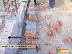 Brick Work in Foundation