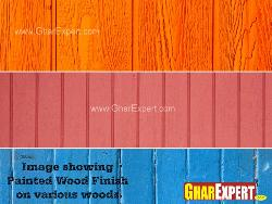 Paint finished wood textures