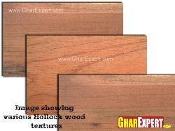 Various hollock wood textures