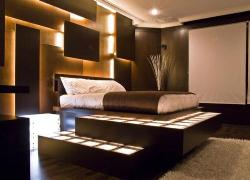 Luxury Bedroom furniture and internal designing with lighting
