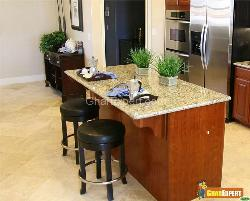 Leather Bar Stools in Kitchen