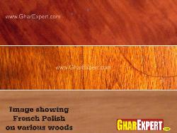 French polish on various woods