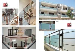 RAILING DESIGN IN STAINLESS STEEL WITH GLASS