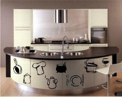 See the wall paper used in kitchen- Like the Idea