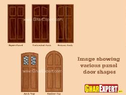 Panel door shapes