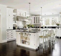 White based stylish Kitchen furniture design idea