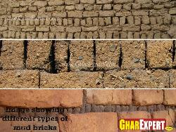Different types of Mud Bricks