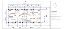 60'x30' floor plan for two houses