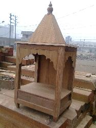 temple with teak wood