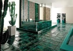 Greenish  BathRoom flooring design