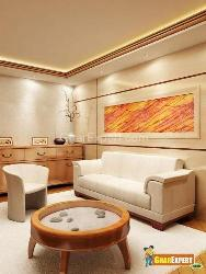 wall decor and ceiling in a living area