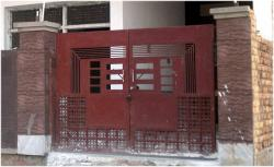 Main Door design in iron sheet and iron grill