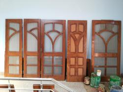 Mesh doors design in Wood