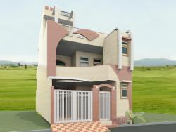 front elevation design for a double story home