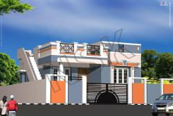 3d House Front Exterior Elevation