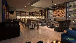 3D Bar Interior Design for Modern Stlyle