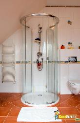 Shower Cabinate with Red Hot Flooring...