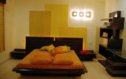 Ultra Modern Bedroom with Wall Treatment