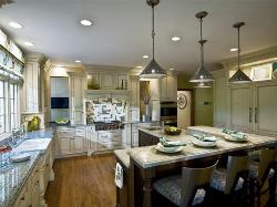 Modern Kitchen Lighting and furniture design