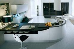 Stylish Round Countertop Design for Kitchen