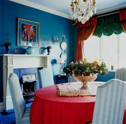 4 seater colorful dining area