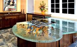 Artistic Counter Top design for kitchen