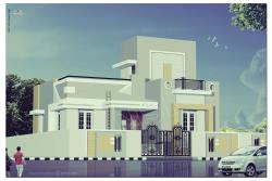 Exterior 3d House Front Elevation
