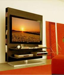 wall unit for tv with bookcase