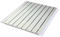 pvc decorative panel with steel finish and grooves