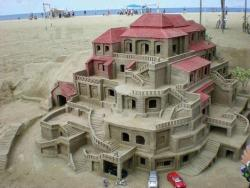 house design in sand