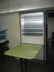 Folding dining table for small space kitchen wall
