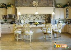 Dynamic Kitchen with Wooden Flooring