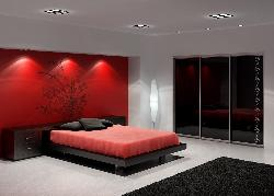 Beautiful Bedroom designing with Lighting and decoration