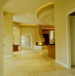 Italian marble tile flooring in living room